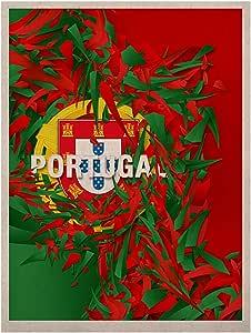 Kess InHouse Danny Ivan 葡萄牙自然帆布艺术,27.94 x 35.56 cm,世界杯