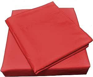 Nouvelle Legende 微纤维 Spa 优质床单套装 红色 King NL-MF-PW-K-R