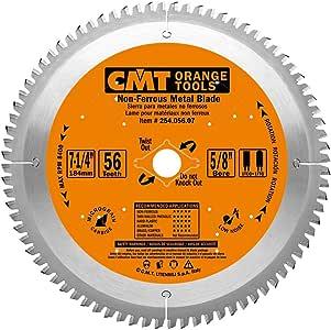 CMT 254.056.07 ITK 工业无铁矿金属和树脂刀片,直径 18.01-cm x 142.7cm x 齿齿,直径 1.59cm