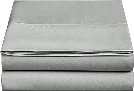 CC&DD HOME FASHION 天鹅绒超细纤维床单 深灰色 2-Pack Twin FLT