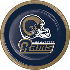 Creative Converting 官方* NFL 纸碗,8 只装,20 盎司,洛杉矶公羊 甜点盘子 321460