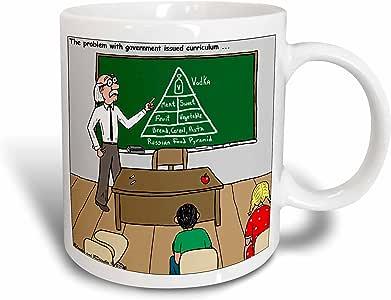 3dRose Russian Food Pyramid Ceramic Mug, 11 oz, White