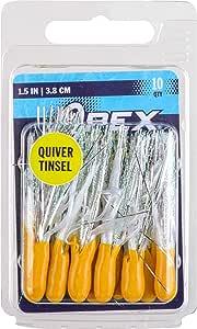 "Apex Tackle APT15-10-52 1.5"" Tinsl 管 YEL/Wht 10Pk"