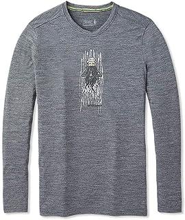 Smartwool 男士美利奴运动150 老人冬季长袖 T 恤 中麻灰 XL