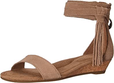 UGG Koolaburra 女士 W Saige 坡跟凉鞋 Amphora 07.5 Medium US
