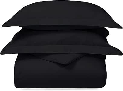 Superior C300TWDC AMBG 300 支* * 纯棉羽绒被套套装 黑色 Full/Queen C300FQDC AMBK