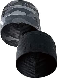 Shinobu Sportif Coolmax(2 只装)骷髅帽头帽内衬跑步无檐小便帽,覆盖耳朵和吸湿排汗