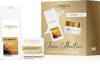 L'Oreal Paris 巴黎欧莱雅 皮肤护理礼品套装,包括Age Perfect洁面乳和Classic Collection日霜