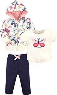 Touched by Nature 婴儿*棉连帽衫,紧身衣/T 恤上衣和裤子,亮蝴蝶幼儿