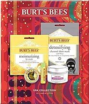 Burt's Bees Spa 系列假日礼品套装,5 件产品 - 迷你蜡烛,唇膏,面膜和角质层霜