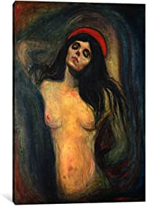 iCanvasART 15220-1PC3-12x8 Madonna, 1895 Canvas Print by Edvard Munch, 0.75 by 8 by 12-Inch