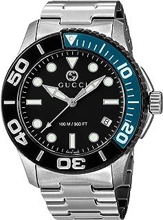 Gucci古驰 手表 潜水 黑色表盘 YA126281 男款 银色