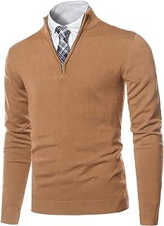 Youstar 男式经典半拉链半高领基本毛衣上衣