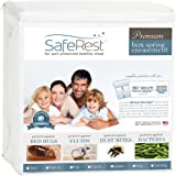 """Full Size SafeRest Premium Waterproof Lab Certified Bed Bug Proof Zippered Box Spring Encasement - Designed For Complete Bed Bug, Dust Mite and Fluid Protection 9"""""""