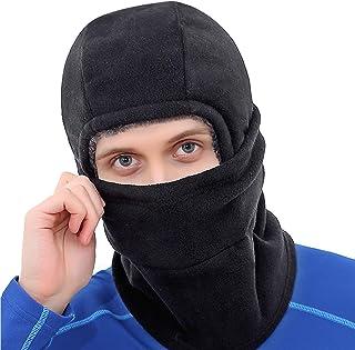 冬季巴拉克拉瓦盔滑雪面具加厚羊毛帽面罩女士户外运动羊毛帽