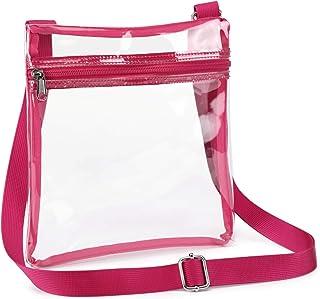 透明斜挎包,iSPECLE 透明包钱包已获 NFL PGA NCAA 紫红色