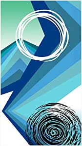 HiPP Hip 4659 沙滩毛巾蓝色和绿色 180 x 100 x 0.5 厘米,多色