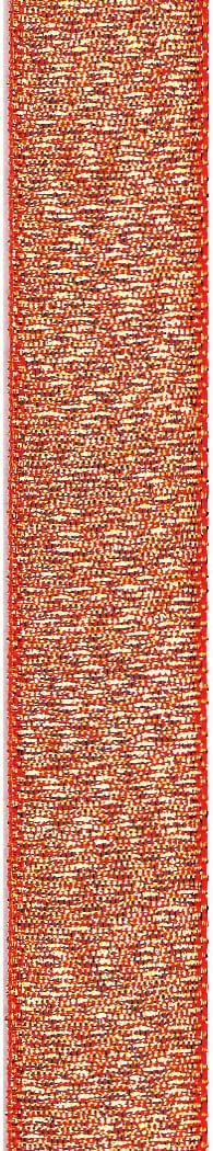 Offray Luxe Metallic Craft Ribbon, 5/8-Inch Wide by 50-Yard Spool, Mandarin Orange