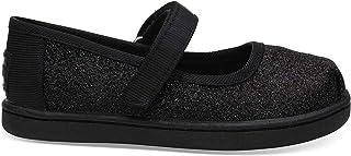 TOMS 女式 lenox 麂皮高跟鞋时尚运动鞋 Black Iridescent Glm 11 M US 儿童