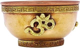 inCAREofGOD 宗教传统铜制品祝福圣水碗 铜色 MF2445A
