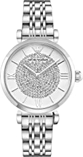ARMANI 阿玛尼 意大利品牌 时尚镶钻满天星系列珍珠贝母石英女士手表 AR1925