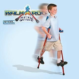 Geospace 原创 Walkaroo Stilts Air Kicks (Steel) 采用人体工程学设计,轻松平衡步行,红色