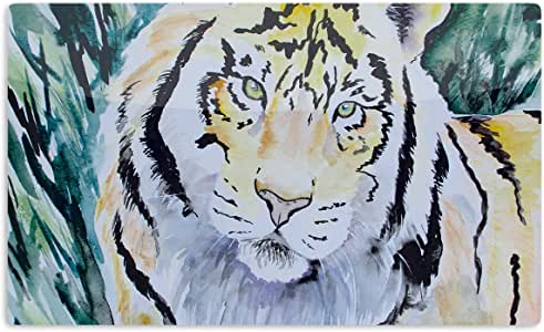 "KESS InHouse Padgett Mason""老虎""艺术铝磁铁,5.08 厘米 x 7.62 厘米,多色"