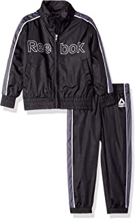 Reebok 男童幼儿尼龙复古风衣拉链夹克和慢跑裤