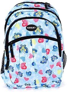儿童书包、带可调节衬垫肩带的重型包、大主隔层舒适、炫酷印花、手提书、笔记本电脑、旅行、户外 蝴蝶