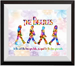uhomate THE BEATLES 披头士海报艺术 BEATLES 墙饰家居帆布墙壁艺术纪念日礼品婴儿礼品灵感引言墙面装饰客厅卧室浴室艺术品 C093
