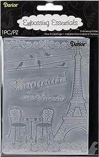 Darice Embossing Folder, 4.25 by 5.75-Inch, French Bistro