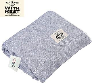 昭和西川 品质*纯棉 今治纱布毯 藏青色 140×190cm AmazonオリジナルIG02