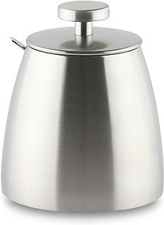 Café Ole 不锈钢单壁糖果碗,带勺子和盖子 缎面表面 11.5 x 10 x 10 cm HS-010S