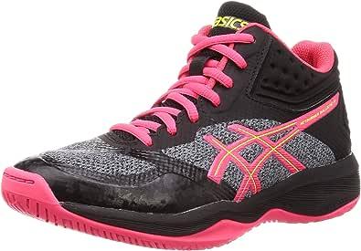 ASICS 女式 Netburner Ballistic Ff Mt 排球鞋 Black (Black/Laser Pink 001) 7 UK