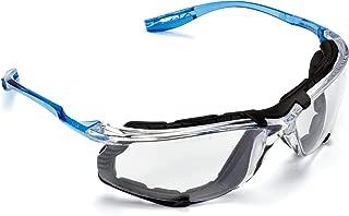 3M Virtua CCS 11872 护目眼镜,可移动泡沫垫片,透明防雾镜片,有线耳塞控制系统