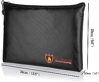 AKDSteel 防火液体硅胶文件袋,带拉链,可存放文件 Large Size 34*25*3.5cm
