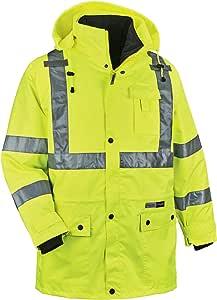 Ergodyne GLoWEAR 8385 Class-3 4-in-1 Jacket, Lime, Large