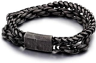 FJ 钛钢双链手链,龙骨链和双加长链子