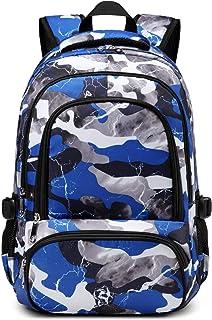 儿童背包男孩女孩小学生幼儿园书包 蓝色迷彩
