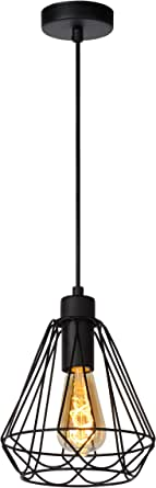 Lucide Kyara 吊灯 - 20 厘米,金属,E27,60 瓦,20 x 20 x 155 厘米 黑色 20 x 20 x 155 cm 78385/20/30
