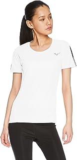 [Mizuno 美津浓] 训练服 太阳能裁剪 T恤短袖 清凉材料 UPF50+ 吸汗速干 干燥 女士 32MA8211
