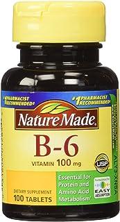 Nature Made 维生素 B-6 100 毫克,片,100 粒(2 件装)