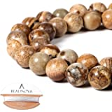 BEADNOVA 4-10毫米圆形宝石散珠,可用于制作珠宝