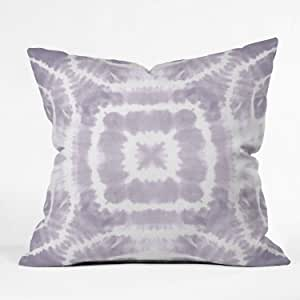 "Deny Designs Monika Strigel Happy Go Lucky 室内抱枕 Wild and Free Urban Lavender 18"" x 18"" 61697 - othrp18"