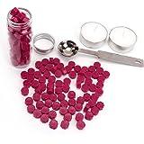 蜡密封珠子,Yoption 150 片八角封蜡蜡笔和蜡烛熔珠适用于蜡印章的蜡封装 *红色 AGUS13001