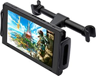 FYOUNG 汽车头枕支架适用于 Nintendo Switch 任天堂 Switch/iPhone/iPad 和其他平板电脑的可调节车载支架(4-11 英寸)