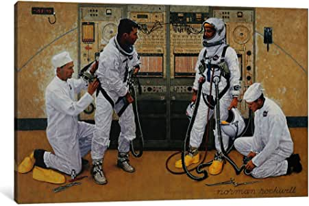 iCanvasART NRL45-1PC3 The Longest Step Canvas Print by Norman Rockwell, 0.75 by 12 by 8-Inch