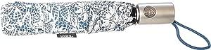 totes 自动开合 NeverWet 紧凑雨伞 43 英寸 弧形,