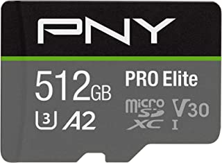 PNY U3 Pro Elite MicroSD Card - 512GB - (P-SDUX512U3100PRO-GE)