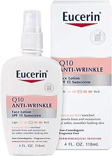 EUCERIN 优色林 Q10抗皱面霜,含SPF 15——无香料,滋润保湿,使皮肤更柔滑,4盎司/瓶(约113.40克),118毫升